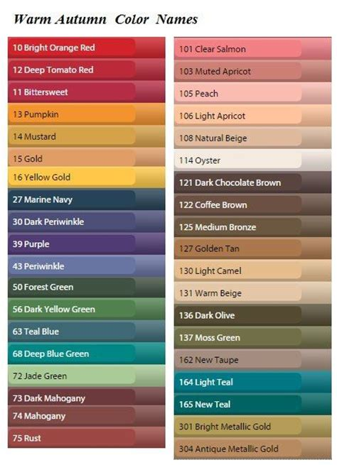 piwi fr top colors analysis 17 best images about autumn colour palette on pinterest