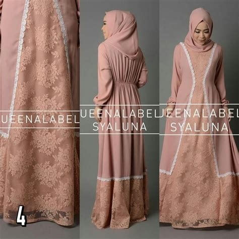 Amsterdam Dress Gamis Crep Premium syaluna by queenalabels polos lace busui crepe fashion butiq