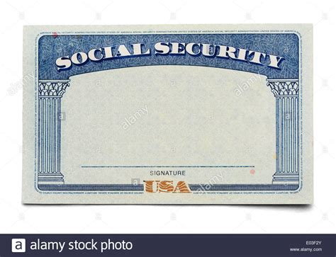Blank Social Security Card Isolated On A White Background Stock Photo 68919171 Alamy Blank Social Security Card Template 2