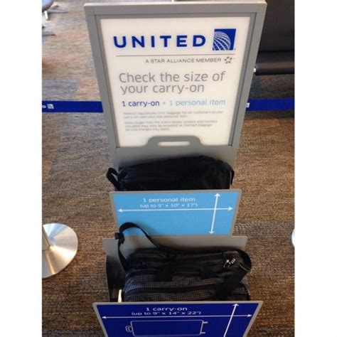 united checked bag united airlines carry on baggage sizer which tom bihn