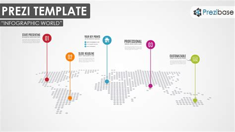 infographic world prezi template prezibase
