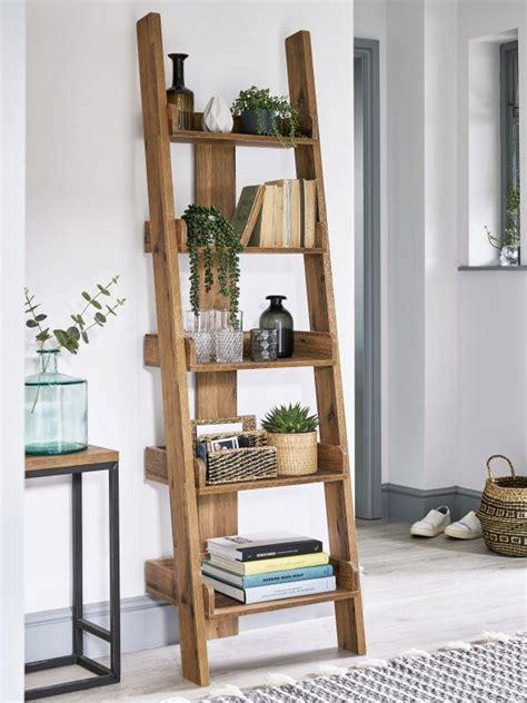leaning ladder style bookshelves  furniture