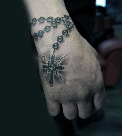 rosary hand tattoo 100 rosary tattoos for sacred prayer ink designs