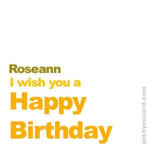 happy birthday roseann free e cards
