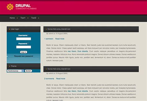drupal themes easy 50 hand picked beautiful drupal 6 themes hongkiat