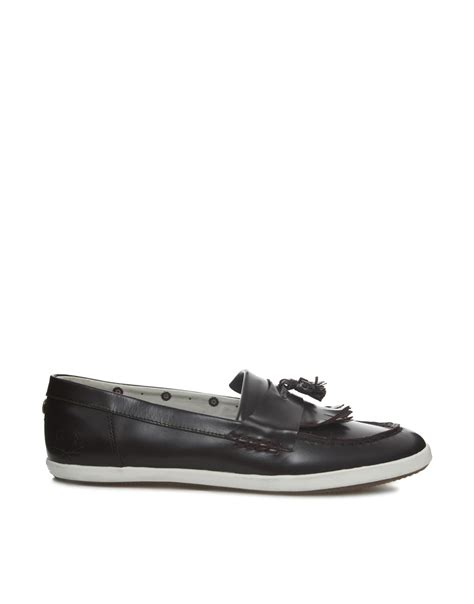fred perry loafers fred perry twisted wheel fontana loafers in black for