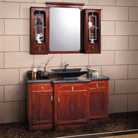 melamine bathroom vanity cabinet with solid wood veneer
