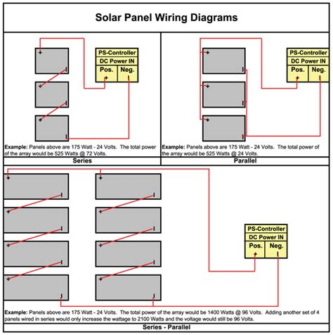 wiring diagram for solar panels in parallel