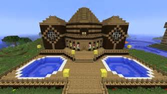 Minecraft tutorial of how i built the wooden mansion youtube