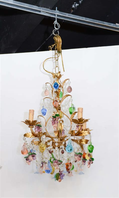 Murano Chandeliers Sale Vintage Blown Multi Colored Murano Chandelier For Sale At 1stdibs