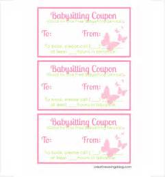 babysitting coupon book template baby sitting coupon template 10 free printable pdf