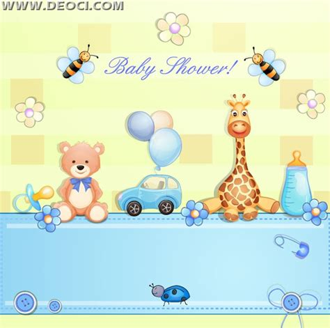 theme ppt free download baby vector cartoon baby theme background ai downloads deoci