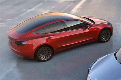 tesla model 3 back tesla model 3 ride review motor trend