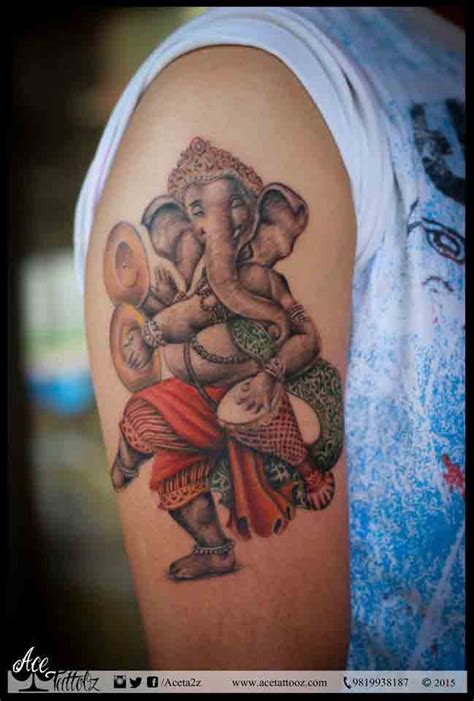 tattoo ganesha arm lord ganesha tattoos ace tattooz art studio mumbai india