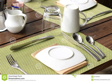 how to set a table for breakfast table setting for breakfast royalty free stock photos