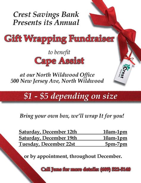 gift wrap fundraising crest savings bank gift wrapping fundraiser the