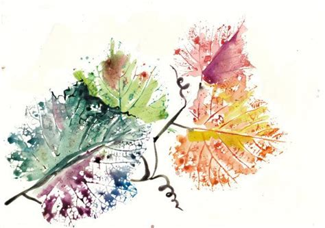 watercolor vine tattoos golden leaves autumn watercolor painting vine leaf