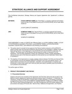 Strategic Alliance Agreement Template strategic alliance and supply agreement template