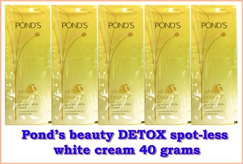 Ponds Whitening Detox Review by 40 G Ponds White Detox Spot Less Lightening