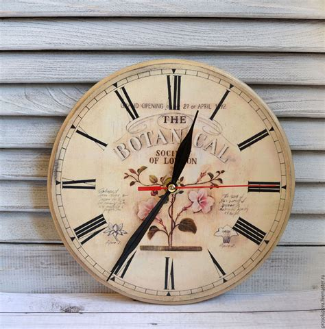 Decoupage Clock - wall clock vintage decoupage quot botanical quot shop on