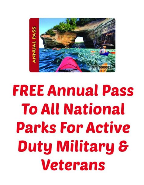 how to pass national free annual pass to all national parks for active duty military veterans 80 value i don