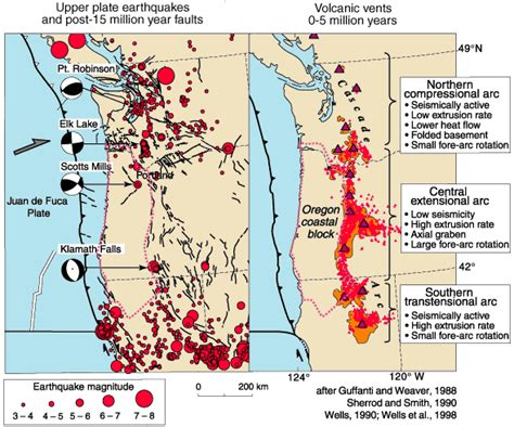 map of oregon volcanoes pacific northwest geologic mapping and hazards