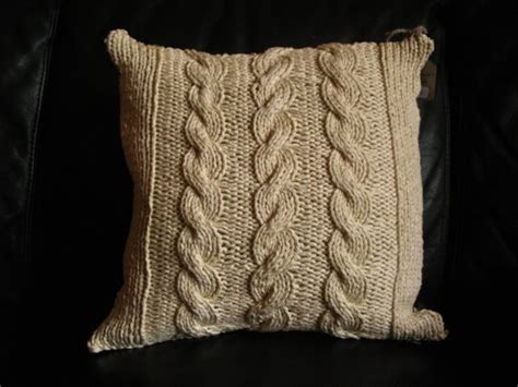 Cable Knit Throw Pillow cable knit reversible throw pillow