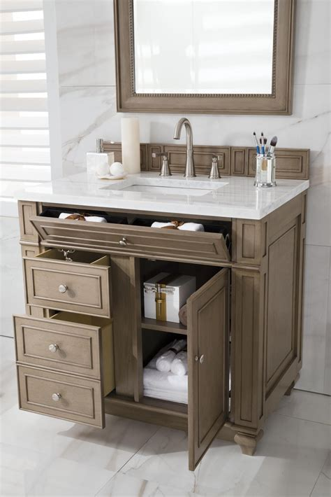 36 Inch White Bathroom Vanity by 36 Inch Antique Single Sink Bathroom Vanity Whitewashed