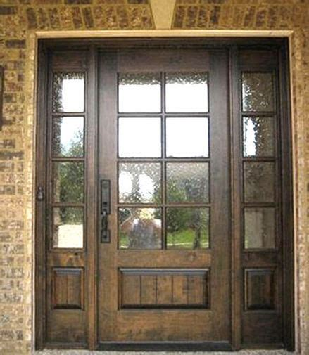 Exterior Doors With Sidelites Mahogany 8 Lite Entry Door Unit With Sidelites Ebay