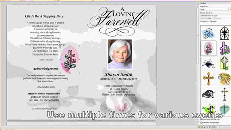 free template funeral program 8 free funeral program template microsoft word