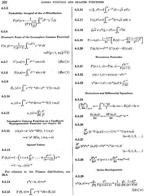 Handbook of Mathematical Functions, p. 262