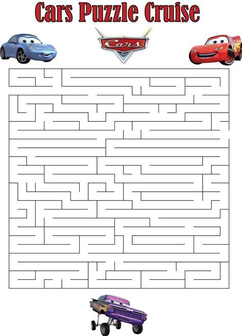 printable car maze printable puzzles for kids