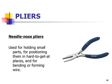 Nose Plier Diagram