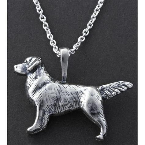 golden retriever jewelry kabana small golden retriever pendant 18 quot chain 131094 jewelry at sportsman s guide