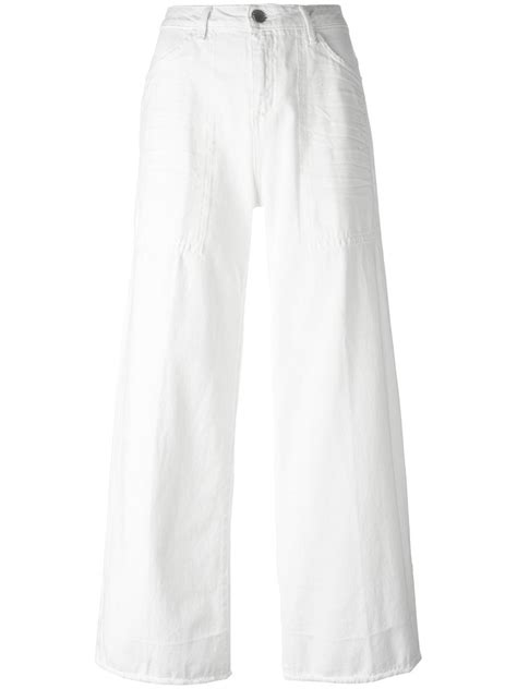 Set Cropped T Shirt Wide Leg set wide legged cropped 00827 bianco s