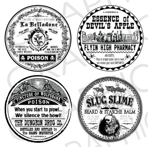 printable poison labels halloween witch labels 2 round poison bottle labels