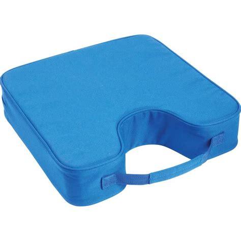 club fun royal blue stadium cushion with padded carrying