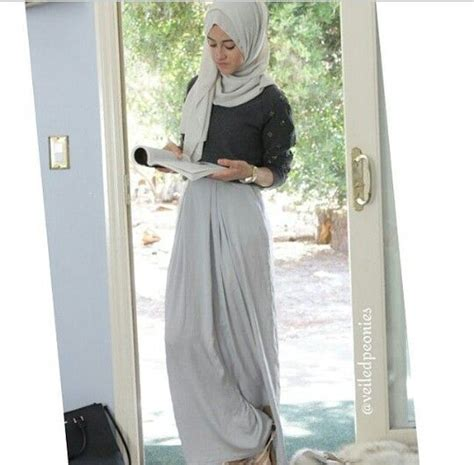 Muslim Fashion Style Grey 398 best images about maxi skirts on chic hashtag and fashion