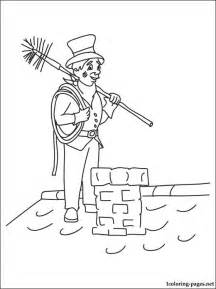 chimney sweep coloring page coloring pages