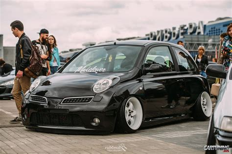 stanced nissan stanced nissan micra 187 cartuning best car tuning photos