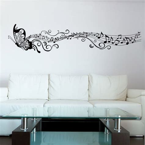 Music Notes Wall Stickers online buy wholesale music wallpaper from china music