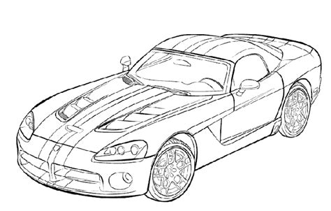 Free Viper Srt 10 Coloring Pages Dodge Viper Coloring Pages