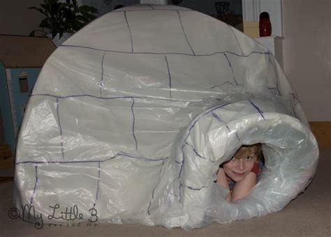 How To Make Igloo House With Paper - how to make an indoor igloo the plastics play tents and