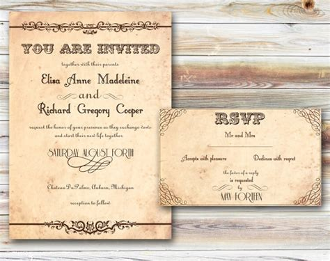 rustic wedding invites template best template collection