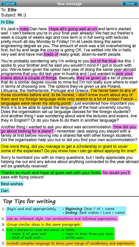 informal email format my pages unit 1 how to write an