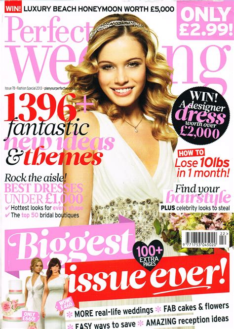 design wedding magazine our design on perfect wedding front cover ivory co