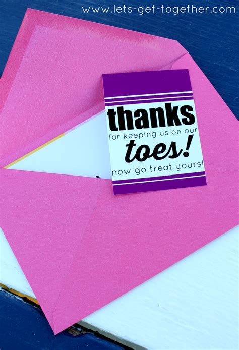 Mani Pedi Gift Card - 10 gifts teachers want