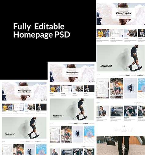 product layout psd free divi layout psd for a photographer