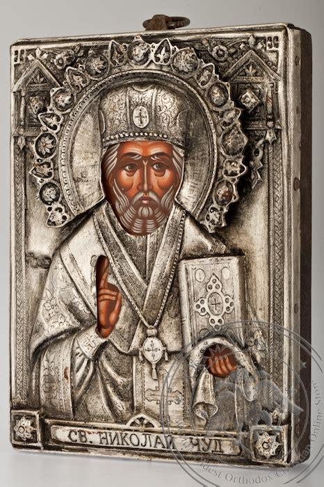 Handcrafted By St - nicholas the wonderworker handmade metal icon
