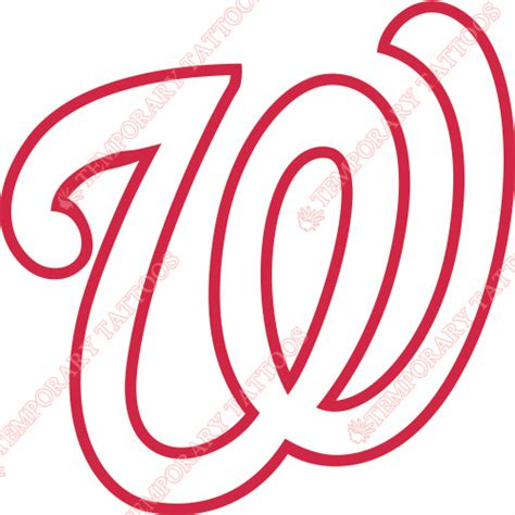 washington nationals tattoo washington nationals temp tattoos customize temporary